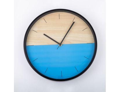 reloj-de-pared-30-5-cm-azul-circular-borde-negro-614396