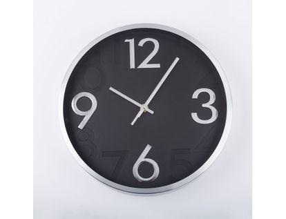reloj-de-pared-28-cm-negro-circular-borde-plateado-614401