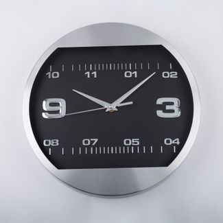 reloj-de-pared-30-5-cm-negro-circular-borde-plateado-614404