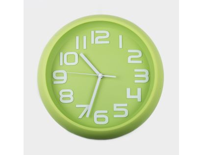 reloj-de-pared-30-cm-verde-circular-614423