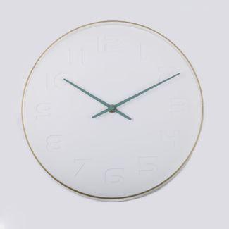 reloj-de-pared-28-cm-blanco-diseno-manecillas-verdes-614435