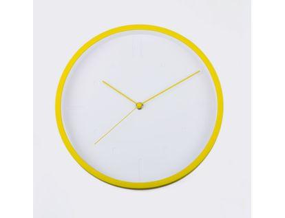 reloj-de-pared-29-cm-blanco-circular-con-borde-amarillo-614438