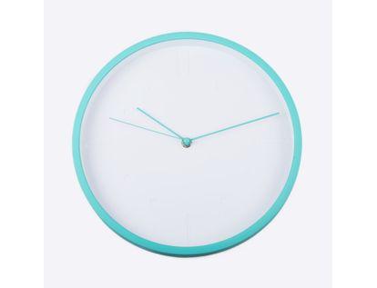 reloj-de-pared-29-cm-blanco-circular-con-borde-verde-menta-614439