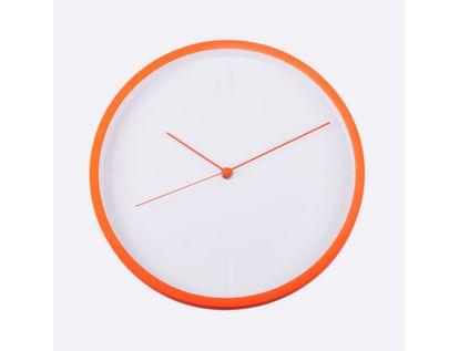 reloj-de-pared-29-cm-blanco-circular-con-borde-naranja-614440
