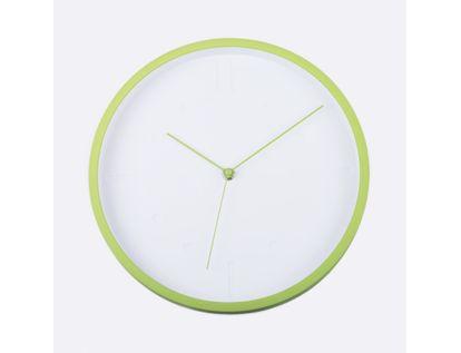 reloj-de-pared-29-cm-blanco-circular-con-borde-verde-614441