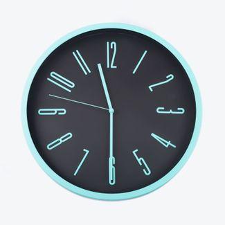 reloj-de-pared-29-cm-negro-circular-borde-aguamarina-614442