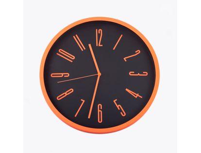 reloj-de-pared-29-cm-negro-circular-borde-naranja-614443