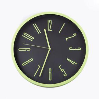 reloj-de-pared-29-cm-negro-circular-borde-verde-614444