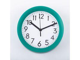 reloj-de-pared-15-cm-blanco-circular-borde-verde-614445