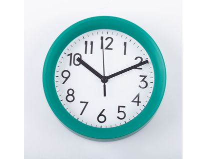 reloj-de-pared-15-cm-blanco-circular-borde-verde-614445