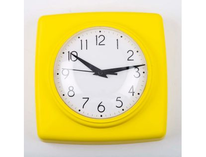 reloj-de-pared-18-5-cm-blanco-cuadrado-borde-amarillo-614448