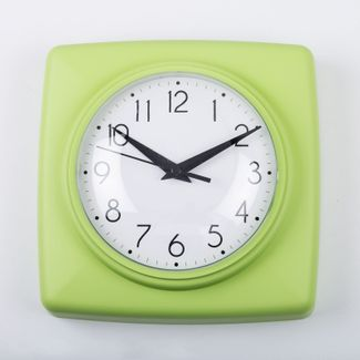 reloj-de-pared-18-5-cm-blanco-cuadrado-borde-verde-614450