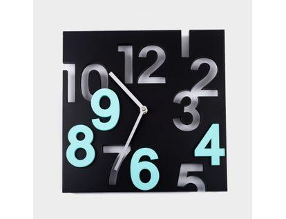 reloj-de-pared-29-5-cm-negro-cuadrado-con-numeros-verde-menta-614454