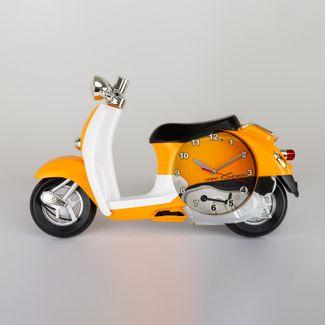 reloj-de-pared-diseno-de-motoneta-amarilla-614455