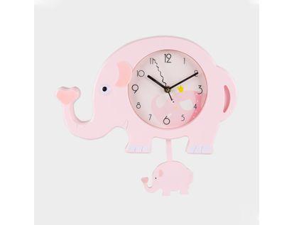 reloj-de-pared-rosado-diseno-elefante-con-pendulo-614462