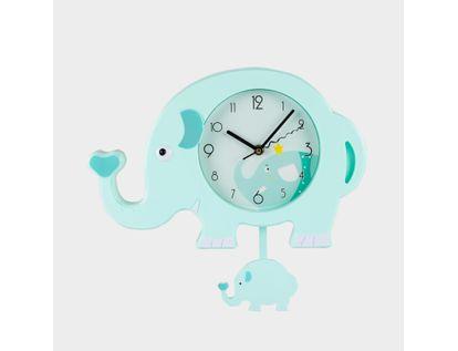 reloj-de-pared-rosado-verde-menta-elefante-con-pendulo-614464