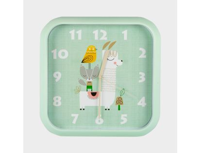 reloj-de-pared-30-cm-verde-cuadrado-diseno-alpaca-614468