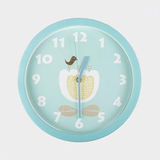 reloj-de-pared-30-cm-azul-circular-diseno-de-flor-614469