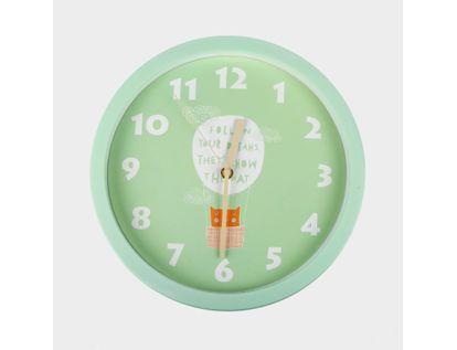 reloj-de-pared-30-cm-verde-circular-diseno-de-gato-614470