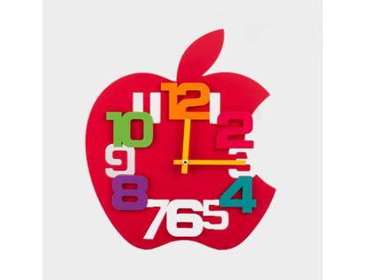 reloj-de-pared-35-cm-rojo-diseno-manzana-614474