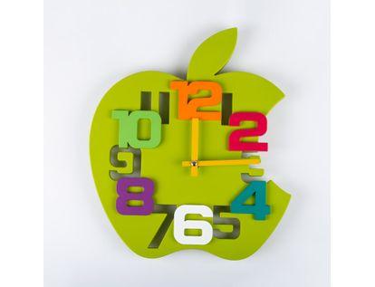reloj-de-pared-35-cm-verde-diseno-manzana-614475