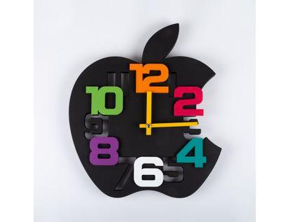 reloj-de-pared-35-cm-negro-diseno-manzana-614476