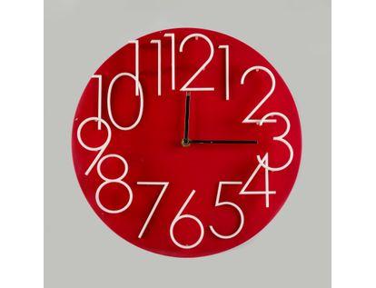reloj-de-pared-32-cm-rojo-circular-614481