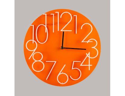 reloj-de-pared-32-cm-naranja-circular-614482