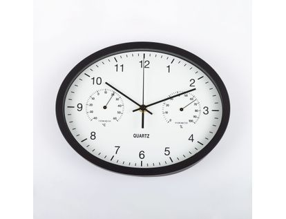 reloj-de-pared-29-cm-blanco-ovalado-con-borde-negro-614490