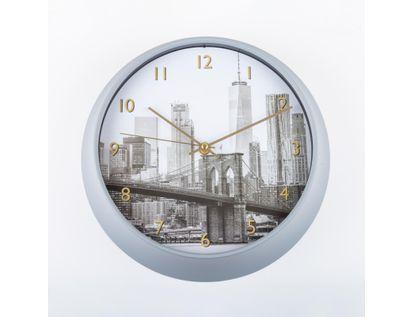 reloj-de-pared-25-cm-circular-con-borde-blanco-puente-de-brooklyn-614493