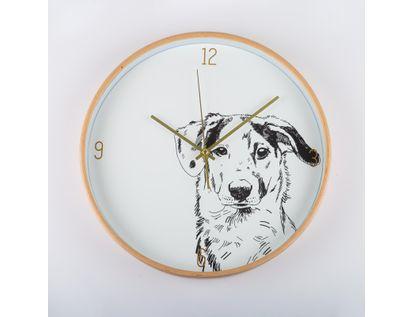 reloj-de-pared-31-3-cm-blanco-circular-con-borde-dorado-perro-614495