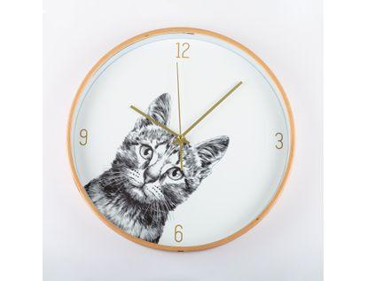 reloj-de-pared-31-3-cm-blanco-circular-con-borde-dorado-gato-614496