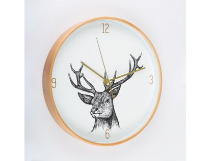 reloj-de-pared-31-3-cm-blanco-circular-con-borde-dorado-venado-614497
