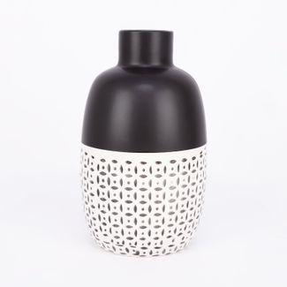 jarron-con-diseno-de-circulos-y-puntos-color-negro-mate-con-blanco-de-23-4-cm-7701016952330