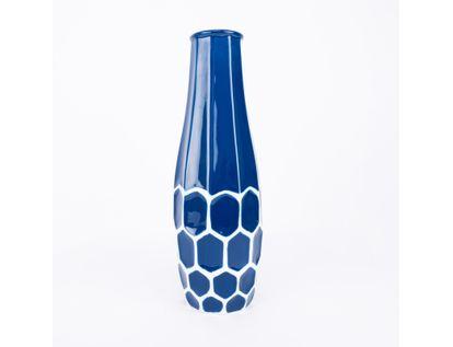 jarron-decorativo-color-azul-oscuro-con-diseno-blanco-con-hexagonos-7701016952378