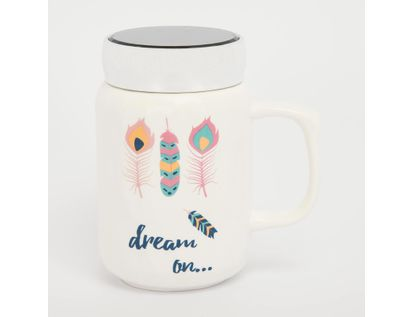 mug-ceramica-con-tapa-450-ml-plumas-dream-on-615673