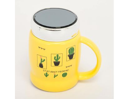 mug-ceramica-con-tapa-450-ml-amarillo-cactus-615675