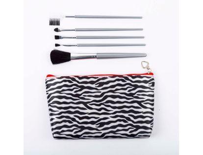 set-cosmetiquera-con-5-brochas-de-maquillaje-rayas-blanco-negro-615274