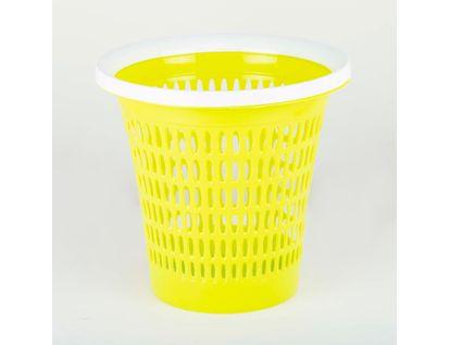 canasta-plastica-28-cm-circular-amarillo-615480