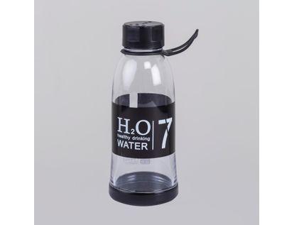 botella-plastica-20cm-500ml-h2o-negro-615607