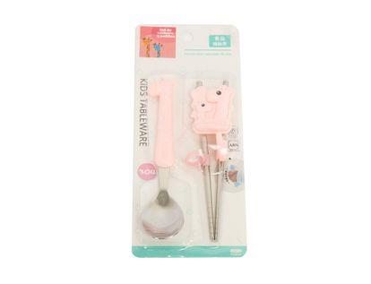 set-de-cuchara-y-palillos-rosado-jirafa-615671