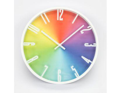 reloj-de-pared-28-7-cm-multicolor-circular-con-borde-blanco-615713
