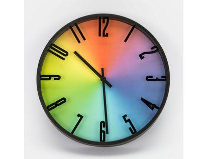 reloj-de-pared-28-7-cm-multicolor-circular-con-borde-negro-615714