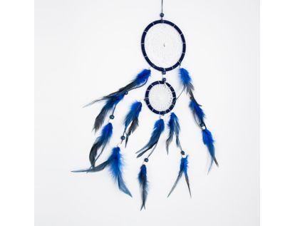 atrapasuenos-49-cm-azul-de-5-lazos-con-plumas-616075