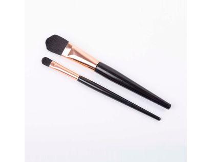 set-brochas-2-piezas-mango-negro-con-oro-rosa-616138