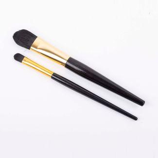 set-brochas-2-piezas-mango-negro-con-dorado-616139
