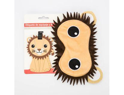 set-de-etiqueta-para-equipaje-y-mascara-cubre-ojos-diseno-de-leon-7701016005364