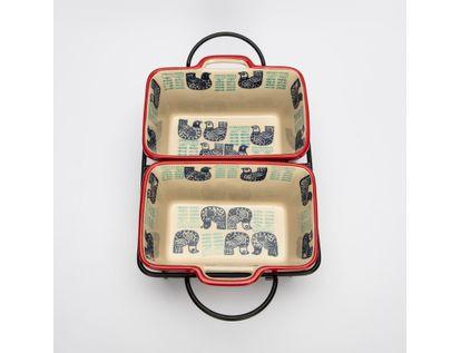 set-de-2-refractarias-beige-rectangulares-con-soporte-metalico-diseno-gallinas-7701016064026