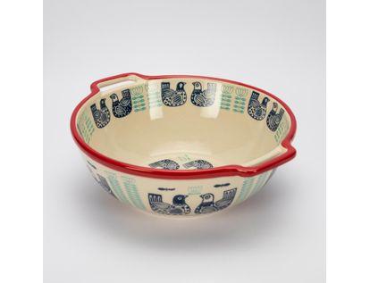 bowl-9-x-24-cm-beige-con-diseno-de-gallinas-7701016064033