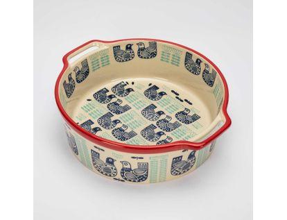 bowl-8-2-x-24-5-cm-beige-con-diseno-de-gallinas-7701016064040